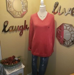 *NwT* Coral V Neck Sweater by Chaps sz. L
